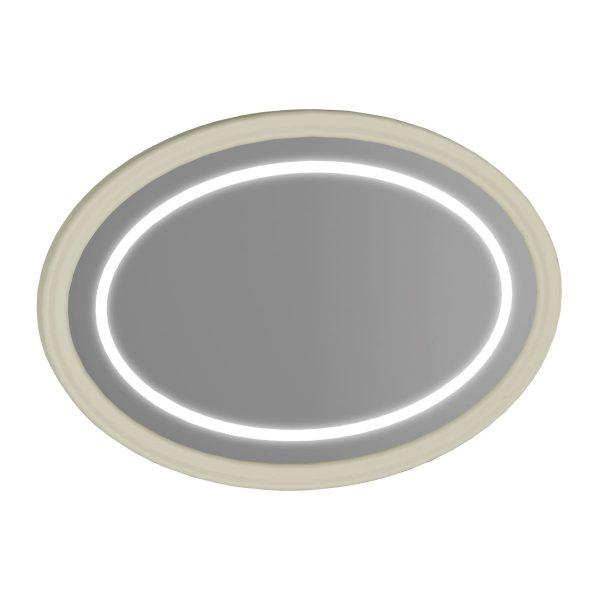 Elegance Aydınlatmalı Ayna 100 Cm Mat Kum Beji